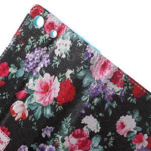 Stand peněženkové pouzdro na Sony Xperia M5 - kvetoucí růže - 6