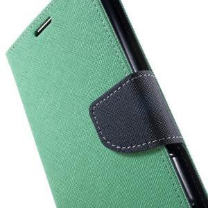 Goos PU kožené penženkové pouzdro na Sony Xperia M5 - cyan - 6
