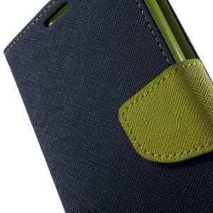 Goos PU kožené penženkové pouzdro na Sony Xperia M5 - tmavěmodré - 6
