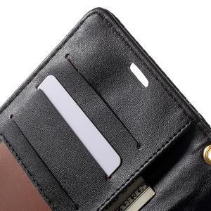 Croco peněženkové pouzdro na mobil Sony Xperia M5 - černé - 6