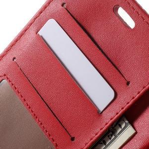 Croco peněženkové pouzdro na mobil Sony Xperia M5 - červené - 6