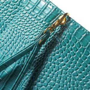 Croco peněženkové pouzdro na mobil Sony Xperia M5 - modré - 6
