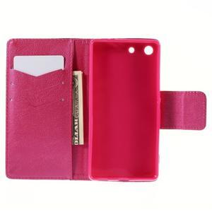 Crafty peněženkové pouzdro na Sony Xperia M5 - srdce - 6