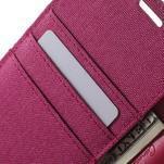 Canvas PU kožené / textilní pouzdro na Sony Xperia M5 - rose - 6/7