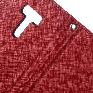 Mr. Goos peněženkové pouzdro na Asus Zenfone Selfie ZD551KL - červené - 6