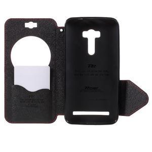 Peněženkové pouzdro s okýnkem na Asus Zenfone Selfie ZD551KL - červené - 6