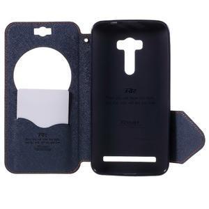 Peněženkové pouzdro s okýnkem na Asus Zenfone Selfie ZD551KL - oranžové - 6