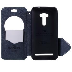 Peněženkové pouzdro s okýnkem na Asus Zenfone Selfie ZD551KL - světlemodré - 6