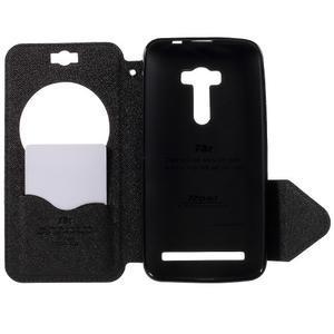 Peněženkové pouzdro s okýnkem na Asus Zenfone Selfie ZD551KL - tmavěmodré - 6