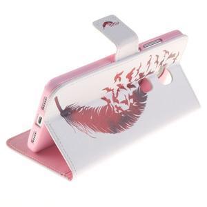 Peněženkové pouzdro pro mobil Honor 5X - ptačí peříčko - 6