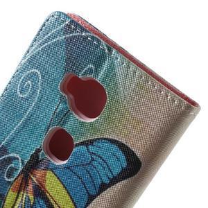 Emotive PU kožené pouzdro na mobil Honor 5X - motýl - 6