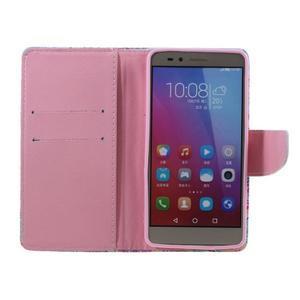 Knížkové pouzdro na mobil Honor 5X - barevná mandala - 6