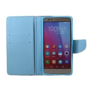 Knížkové pouzdro na mobil Honor 5X - peříčka - 6