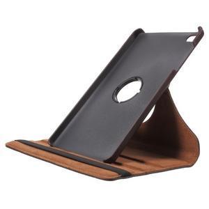 Otočné polohovatelné pouzdro na Huawei MediaPad M2 - tmavěhnědé - 6