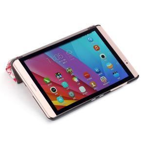 Třípolohové pouzdro na tablet Huawei MediaPad M2 8.0 - srdíčka - 6