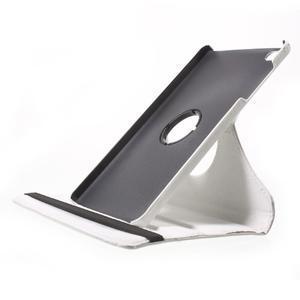 Otočné polohovatelné pouzdro na Huawei MediaPad M2 - bílé - 6