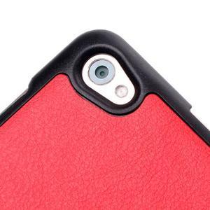 Trifold polohovatelné pouzdro na tablet Huawei MediaPad M2 8.0 - červené - 6