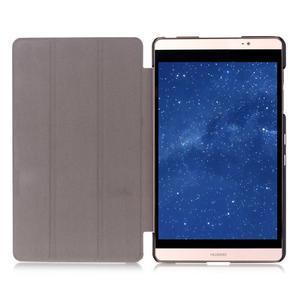 Trifold polohovatelné pouzdro na tablet Huawei MediaPad M2 8.0 - hnědé - 6
