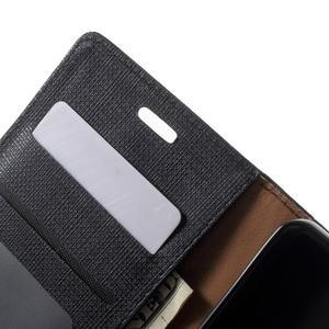 Clothy PU kožené pouzdro na mobil Huawei P8 Lite - černé - 6