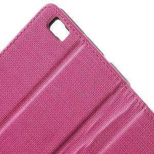 Clothy PU kožené pouzdro na mobil Huawei P8 Lite - rose - 6