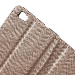 Clothy PU kožené pouzdro na mobil Huawei P8 Lite - champagne - 6
