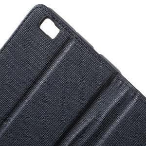 Clothy PU kožené pouzdro na mobil Huawei P8 Lite - tmavěmodré - 6