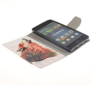 Leathy PU kožené pouzdro na Huawei P8 Lite - magický vlk - 6