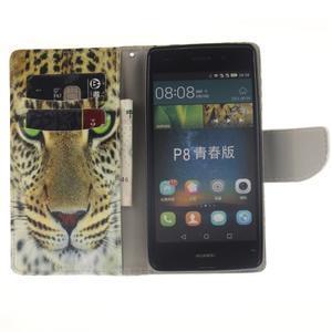 Leathy PU kožené pouzdro na Huawei P8 Lite - gepard - 6