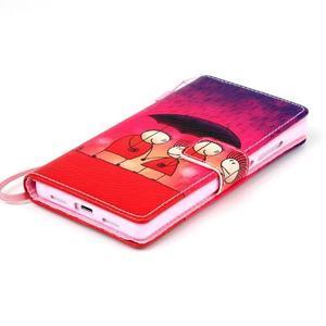 Picture PU kožené pouzdro na Huawei P8 Lite - láska v dešti - 6