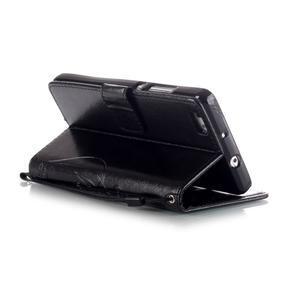 Magicfly PU kožené pouzdro na Huawei P8 Lite - černé - 6