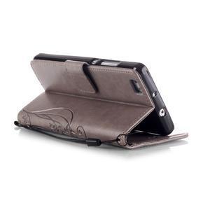 Magicfly PU kožené pouzdro na Huawei P8 Lite - šedé - 6