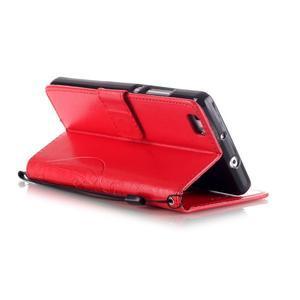 Magicfly PU kožené pouzdro na Huawei P8 Lite - červené - 6