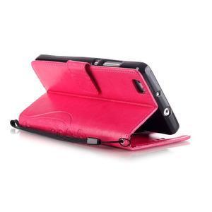 Magicfly PU kožené pouzdro na Huawei P8 Lite - rose - 6
