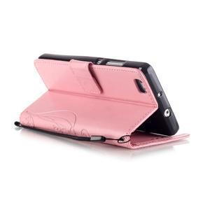 Magicfly PU kožené pouzdro na Huawei P8 Lite - růžové - 6