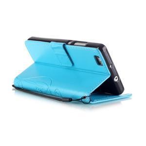 Magicfly PU kožené pouzdro na Huawei P8 Lite - modré - 6