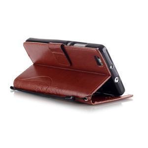 Magicfly PU kožené pouzdro na Huawei P8 Lite - hnědé - 6