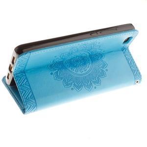 Mandala PU kožené pouzdro na mobil Huawei P8 Lite - modré - 6