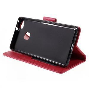 Easy peněženkové pouzdro na mobil Huawei P9 Lite - červené - 6