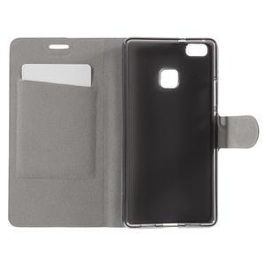 Horse PU kožené pouzdro na mobil Huawei P9 Lite - hnědé - 6