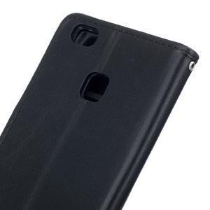 Wall PU kožené pouzdro na Huawei P9 Lite - černé - 6