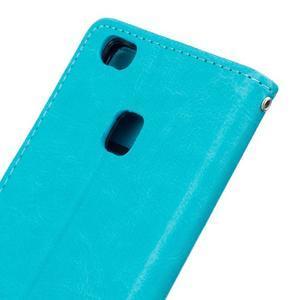 Wall PU kožené pouzdro na Huawei P9 Lite - modré - 6