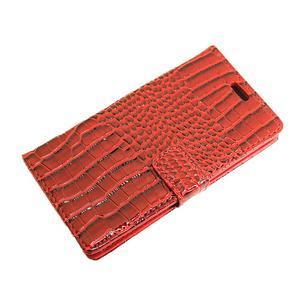 Croco peněženkové pouzdro na mobil Huawei P9 Lite - červené - 6