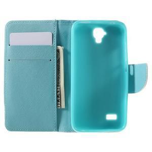 Emotive PU kožené pouzdro na Huawei Y5 - modrý motýl - 6