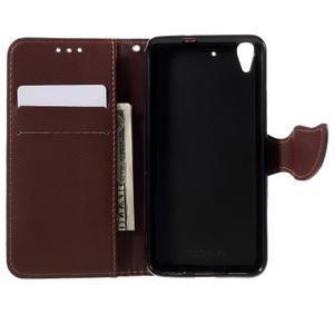 Leaf PU kožené pouzdro na mobil Huawei Y6 - červené - 6