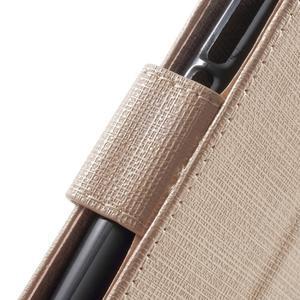 Clothy PU kožené pouzdro na Huawei Y6 - champagne - 6