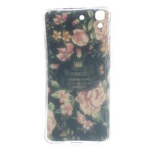 Softy gelový obal na mobil Huawei Y6 - květina na černém pozadí - 6