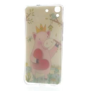 Softy gelový obal na mobil Huawei Y6 - zamilované prasátko - 6