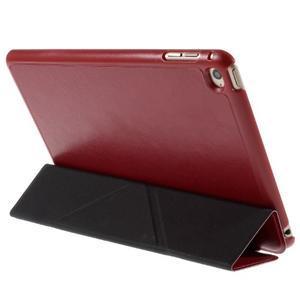 Origami polhovatelné pouzdro na iPad mini 4 - červené - 6
