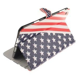 Standy pouzdro na tablet iPad mini 4 - US vlajka - 6