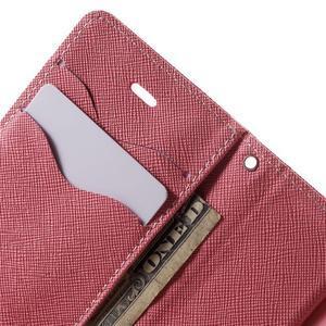 Fancys PU kožené pouzdro na iPhone 4 - rose - 6